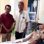 Walikota Bima Jenguk Amar, Korban Penusukan dengan Anak Panah