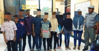 Tindaklanjut Laporan Gamis, Polsek Amankan 11 Orang Anak di Paruga Na'e Bolo
