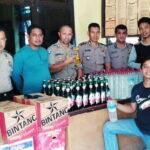 Polsek Madapangga Gagalkan Penyelundupkan Miras Dari Mataram