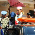 Dijemput di Bandara, Syamsuri Firdaus Diarak Keliling Kabupaten Bima
