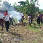 Sambut Hari Bhayangkara, Polres Bima Kerja Bakti di Gereja KII Tolonggeru