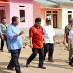 Wakil Walikota Bima dan Tim BWS Tinjau Progres Pembangunan Rumah Relokasi