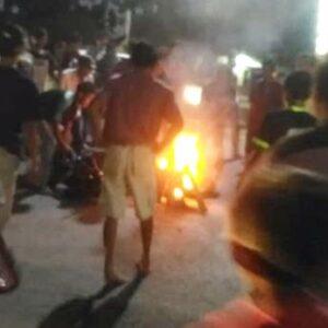 Pelaku Curanmor Dimassa, Motornya Dibakar