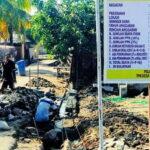 Pengerjaan Dana Desa Tahap Pertama Pemdes Darussalam Rampung