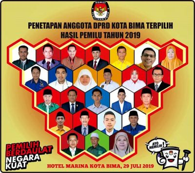 KPU Tetapkan 25 Anggota DPRD Kota Bima Hasil Pemilu 2019