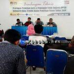 KPU Bima Bimtek Penetapan Perolehan Kursi dan Penetapan Calon Anggota DPRD Terpilih