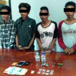 Terlibat Narkoba, 4 Pemuda Ini Digrebek