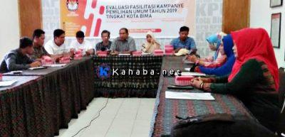 KPU Kota Bima Evaluasi Kampanye Pemilu Tahun 2019