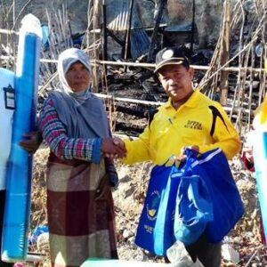 Dinas Sosial Akhirnya Bantu Korban Kebakaran di Dara