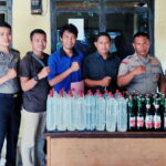 Polsek Madapangga Sita 60 Botol Miras