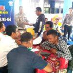 HUT Ke-64 Lantas, Polres Bima Adakan Baksos di Terminal Dara