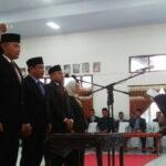 Rapat Paripurna Istimewa, Pimpinan DPRD Kabupaten Bima Resmi Dilantik