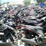 Ratusan Motor Hasil Razia Terparkir di Polres Bima Kota