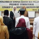 3 Camat dan 2 Pejabat Lingkup Pemkab Bima Dilantik
