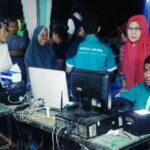 Dukcapil Perekaman E-KTP di Peluncuran Tahapan Pilkada Kabupaten Bima