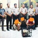 Diduga Curi Pompa Air, 3 Pemuda Digelandang ke Polsek Woha