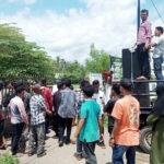 Pupuk Dijual di Atas HET, Aliansi Rakyat Tani Lambu Demo Camat