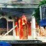 Diduga Arus Pendek, Ruko Bertingkat di Sape Terbakar