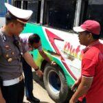 Sat Lantas dan Dishub Sidak Kendaraan di Terminal Dara