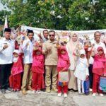 HUT ke-12, Partai Gerindra Kota Bima Serahkan Bantuan Pendidikan di SDN 43 dan SDN 28