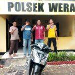 Polsek Wera Amankan Motor yang Dicuri Depan Toko Dafa