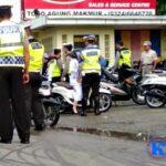 Penertiban Pagi, Sat Lantas Polres Bima Kota Tilang 55 Kendaraan