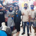 Untuk Kemanusiaan, Milenial Syafa'ad Woha Bagikan Masker di Pasar Tente