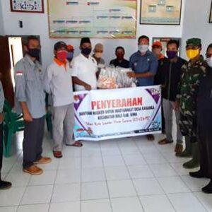 Dukungan Untuk Warga Desa Kananga, KPU Salurkan Masker dan Vitamin