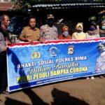 Peduli Warga Saat Covid-19, Polres Bima Bagikan Sembako untuk Warga Belo