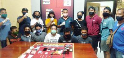 Pesta Narkoba, 6 Orang Ini Digelandang ke Polres