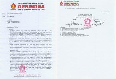 MK DPP Gerindra: Kepengurusan Gerindra Dipimpin H Dahlan Adalah Sah