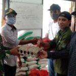 Pembagian Bantuan JPS Setara di Kelurahan Santi Lancar