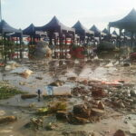 Banjir Rob Hantam Lokasi Pasar Amahami