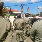 Demonstrasi di Kantor Walikota Bima, Tuntut Transparansi Dana Covid-19, Taman Kodo, dan Krisis Air Bersih