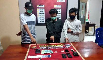 Transaksi Narkoba, 3 Pria Diamankan Polsek Rastim