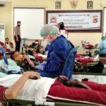 HUT Bhayangkara Ke-74, Polres Bima Kota Gelar Donor Darah