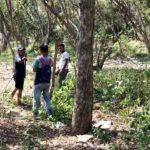 Pemuda Desa Bajo Bersihkan Sampah Sepanjang Pantai Pulau Kambing