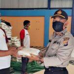 Polres Bima Kota Bagikan Beras 3,65 Ton untuk Kaum Dhuafa