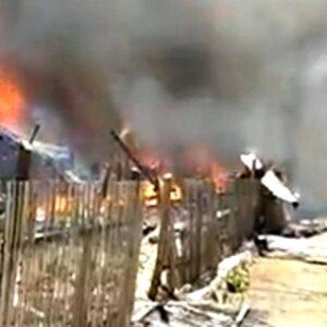 Kebakaran Hebat di Ntonggu Palibelo, Ratusan Rumah Ludes