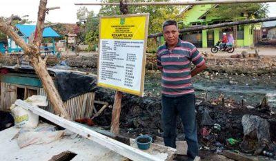 Pemdes Darusalam Perbaiki Talud Pakai Dana Desa Tahap II