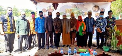 Wawali Bima Letakan Batu Pertama Pembangunan Masjid Nurul Iman SMAN 2 Kota Bima