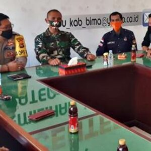 Perkuat Koordinasi, Dandim dan Kapolres Sambangi KPU Kabupaten Bima