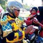 Peringati HUT RI ke-75, SMKN 3 Kota Bima Produksi 5.000 Masker Merah Putih
