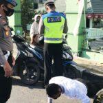 Provos Beri Sanksi Personil Polisi yang tidak Pakai Masker