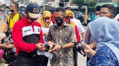 Gebrak Lawan Covid-19, IKAPTK Kota Bima Sebarkan 4.500 Masker
