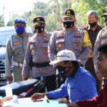 Wakapolda NTB Pantau Razia Masker di Kota Bima
