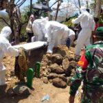 Prosesi Pemakaman Ny N Gunakan Protokol Pencegahan Covid-19