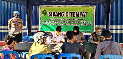Hari Kedua Operasi Masker, 24 Orang Disidang di Tempat