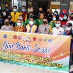 Polres Bima Kota Bersama BEM Gelar Bhakti Sosial