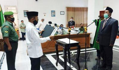 Walikota Bima Lantik H Tafsir Jadi Kepala Dinas Tenaga Kerja